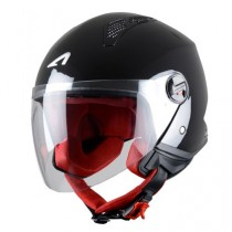 CASCO ASTONE MINI-JET MONOCOLOR NEGRO-BRILLO