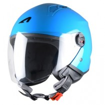 CASCO ASTONE MINI-JET MONOCOLOR AZUL-CURACAO