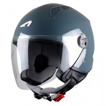 CASCO ASTONE MINI-JET MONOCOLOR GRIS-OSCURO