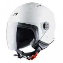 CASCO ASTONE MINI-JET MONOCOLOR BLANCO-BRILLO