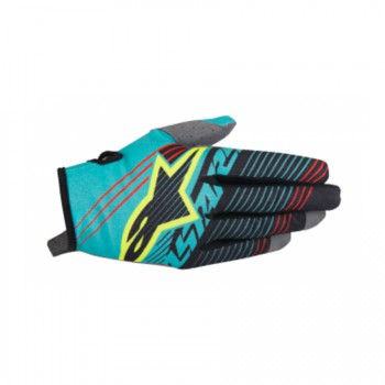 GUANTES ALPINESTARS TEAL BLACK YELLOW